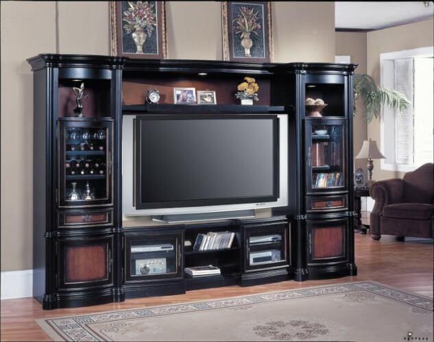 DVD storage for entertainment center