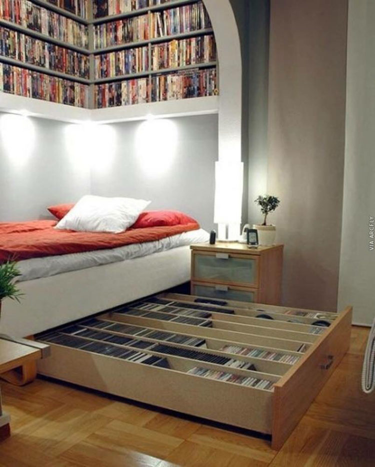 Superbe Another Way Of Overcoming DVD Storage Challenge Is Through The Use Of Trank  Bed. It Offers Space For Storage Of Such Stuff As DVD.