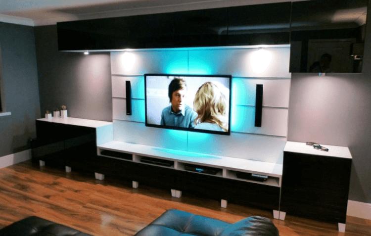 Glass tv wall mount ideas