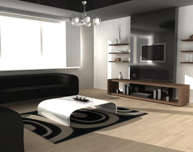 Modern Living Room tv wall mount ideas