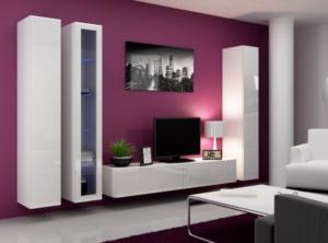 Purple Background tv wall mount ideas