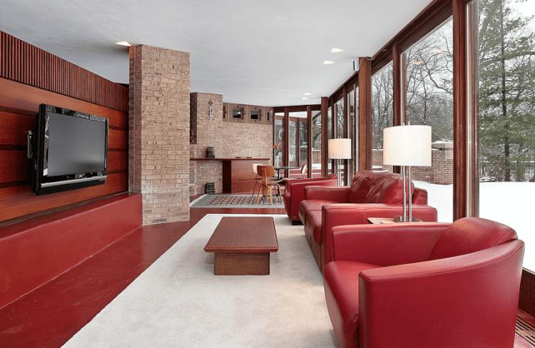 Red Scheme Living Room tv wall mount ideas