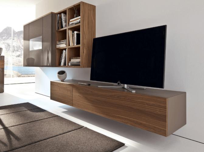 Wooden tv wall mount ideas