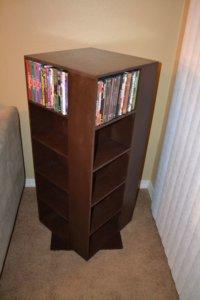 Cases and DVD storage racks