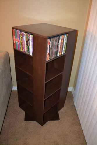 Cases and DVD storage racks