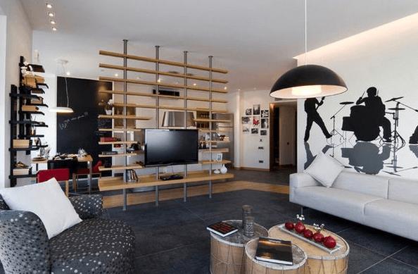 hang tv on wall divider