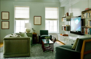 lacquered paneling living room