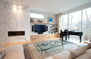 piano room marble fireplace wall