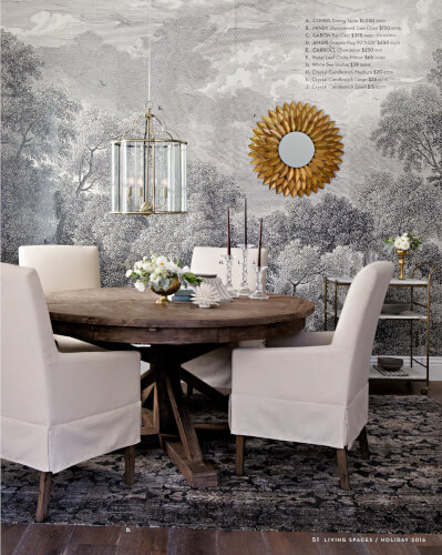 Accent Wall Wallpaper Dining Room