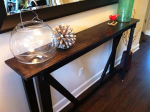 entry table under $100