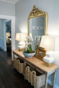 entry table and mirror ideas