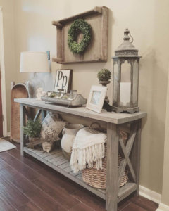 wood entry table diy