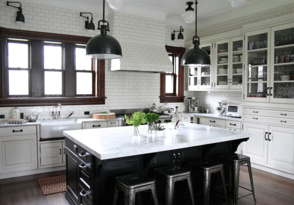 black kitchens with black appliances