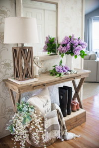 wood entry table ideas