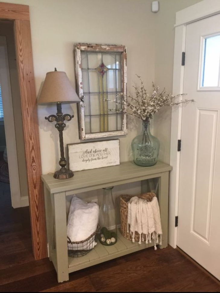 front entry table decor ideas