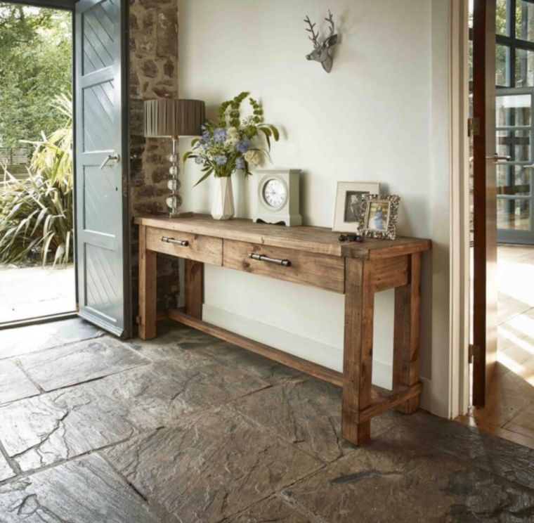 rustic console table ideas