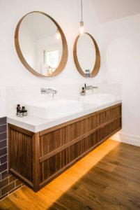 Two Round Bathroom Mirrors