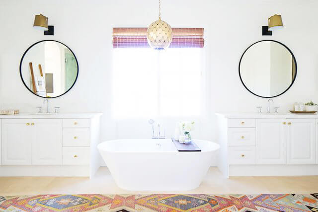 Rounded Bathroom Mirror