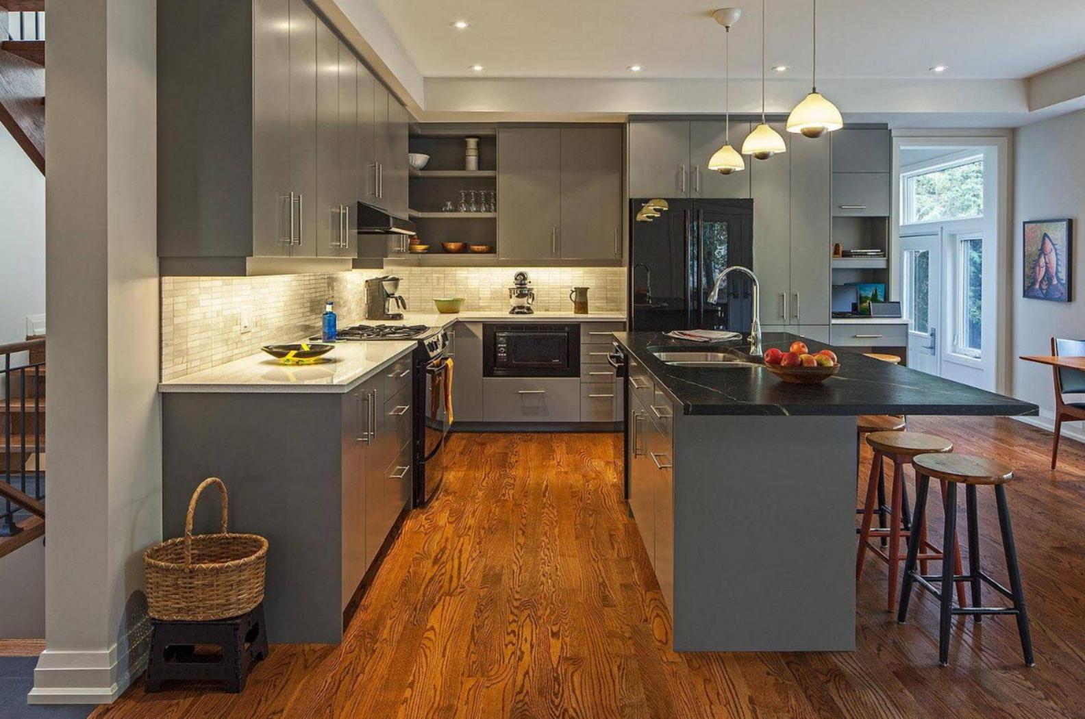Kitchen Design Ideas With Black Appliances ~ Kitchens with black appliances in trending design