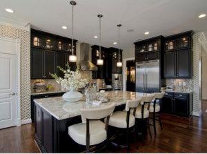 dark kitchens with black appliances
