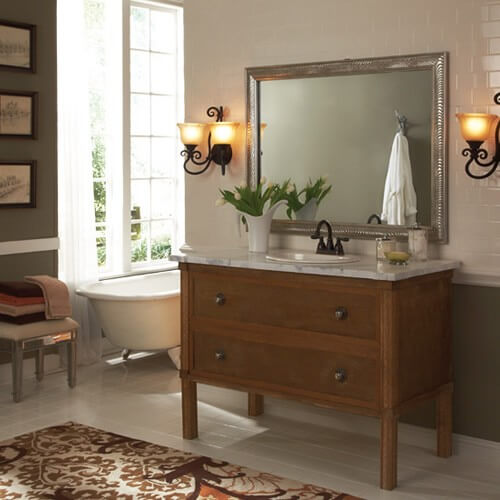 Venetian Bathroom Mirror Ideas