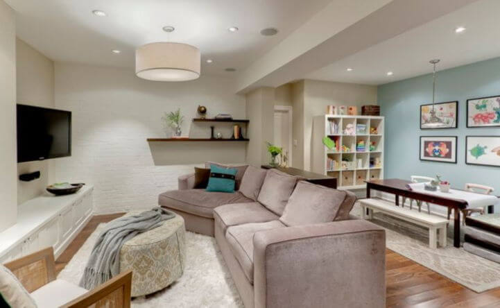 Relaxing Basement Renovation