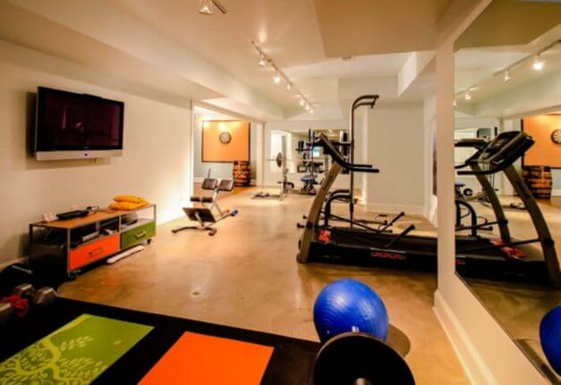 Gym Basement Remodeling