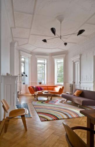 Spacious Mid-Century Ceiling Texture Types