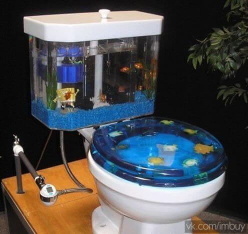 toilet aquarium furniture