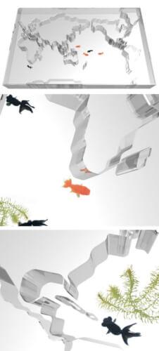 word fish aquarium furniture with table ideas