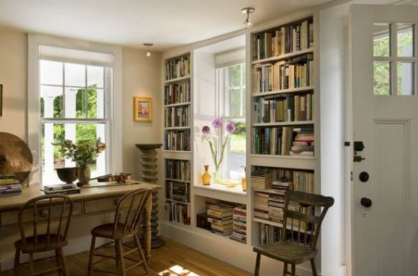 Built In Bookcases With home library