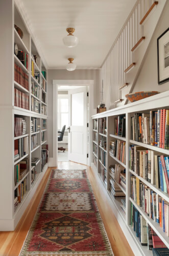 Long Home Library Ideas