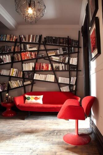 Retro home library ideas