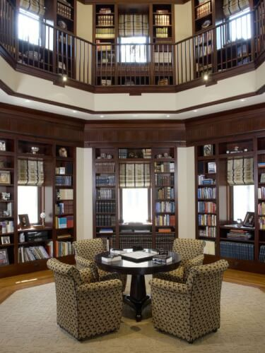 captivating in home library ideas