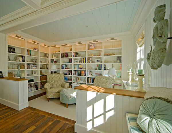 ceiling color home library