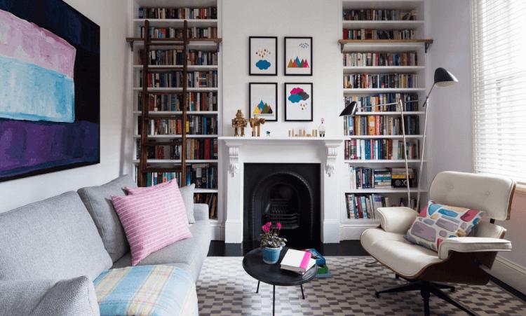 clean Home Library Ideas