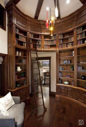 Home library interior ideas
