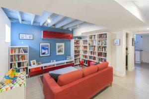 Basement Library Designs