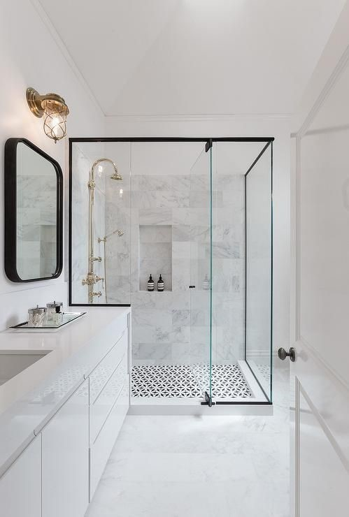 Basement Bathroom Ideas - Make It White and Marbelized It!