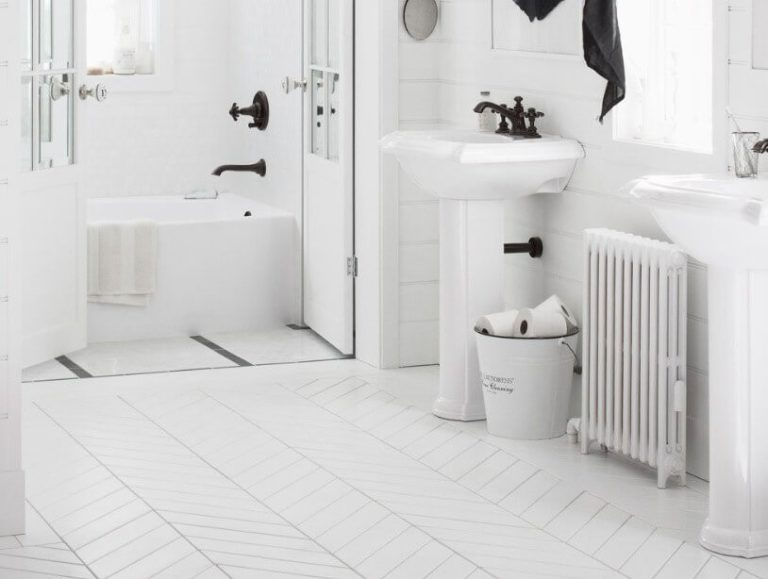 Basement Bathroom Ideas - All White and Bright
